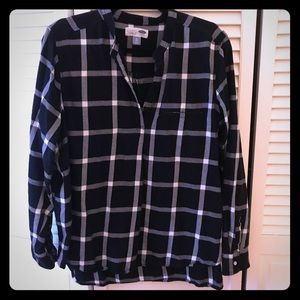 Old Navy B/W Flannel Tunic